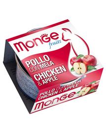 MONGE Fruit hrană umedă pentru pisici, cu pui și mere 80 g