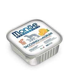 MONGE Fruit Dog Monoprotein hrană umedă pentru câini, curcan și portocale 150 g