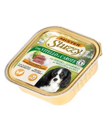 STUZZY Mister Dog hrană umedă pentru câini, cu vitel și morcovi 150 g