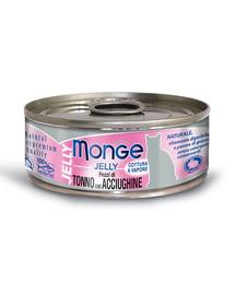 MONGE Jelly hrană umedă pentru pisici, cu ton și anșoa 80 g