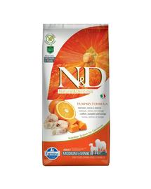 N&D Pumpkin Hrana uscata pentru cainii adulti, cu dovleac, cod si portocale, 2,5 kg