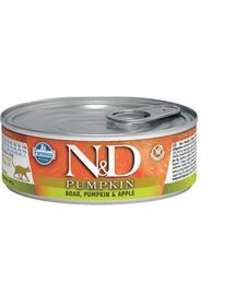 FARMINA N&D Cat Pumpkin cu mistreț, dovleac și măr 80 gr