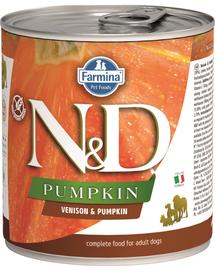 FARMINA N&D Pumpkin hrană umedă - căprioară și dovleac 285 g