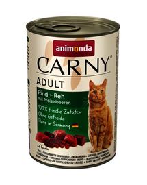 ANIMONDA Carny Vită,Vânat și Afine 400 g