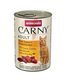 ANIMONDA Carny Adult vită, pui și inimi de rață 400 gr