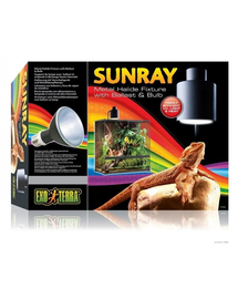 EXO TERRA Lampă halogen SunRay cu bec și balast 50w