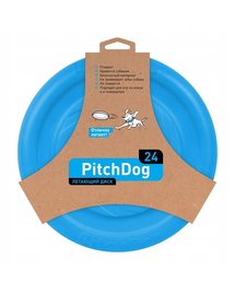 PULLER PitchDog Frisbee, 24 cm, albastru