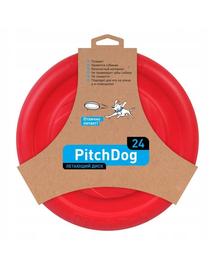 PULLER PitchDog Frisbee Disc zburator, roz, 24 cm