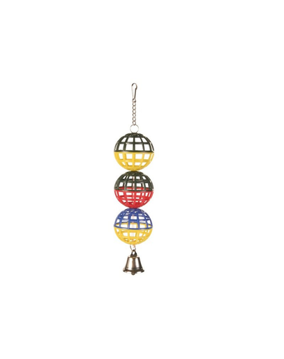 TRIXIE 3 mingi cu clopoțel 4.5 cm