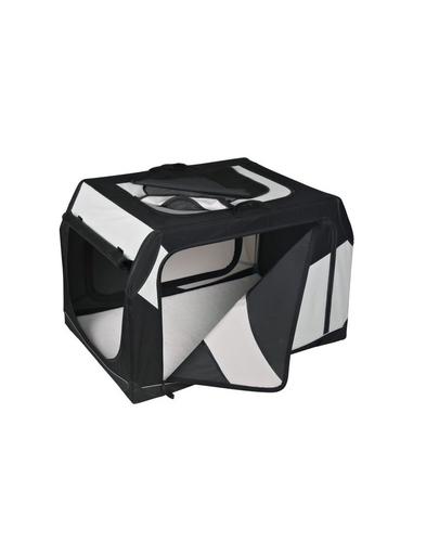 TRIXIE Cutie de transport Vario nailon negru și gri 91 × 58 × 61 cm imagine