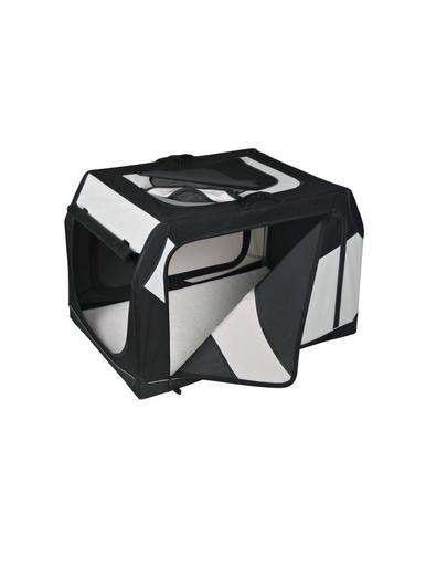 TRIXIE Cutie de transport Vario nailon negru și gri 99 × 67 × 71/61 cm imagine