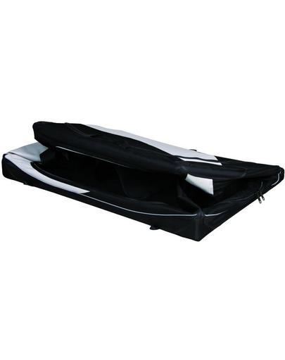 TRIXIE Cutie de transport Vario nailon negru și gri 99 × 67 × 71/61 cm