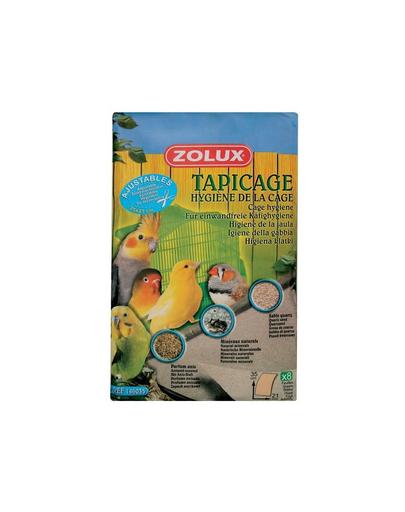 Zolux Foi De Smirghel Pentru Colivie - Mici 35 X 21 Cm
