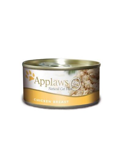 APPLAWS Hrană umedă pentru pisici, piept de pui 70 g imagine