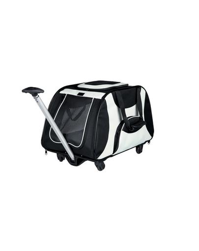 TRIXIE Geantă de transport cu mâner și roți 34 x 43 x 67 cm negru și gri imagine