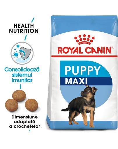 Royal Canin Maxi Puppy Hrană Uscată Câine 15 kg + 3 kg