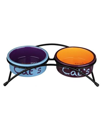 "TRIXIE Set boluri ceramice ""Eat on Feet"" 0.3 L"