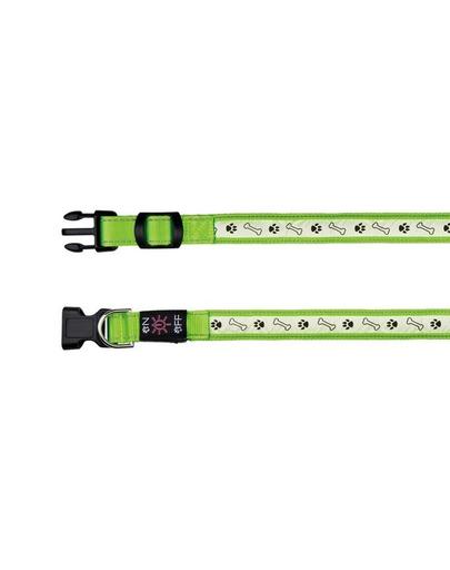 TRIXIE Zgardă cu beculeț pe USB L–XL: 50–60 cm/25 mm, verde