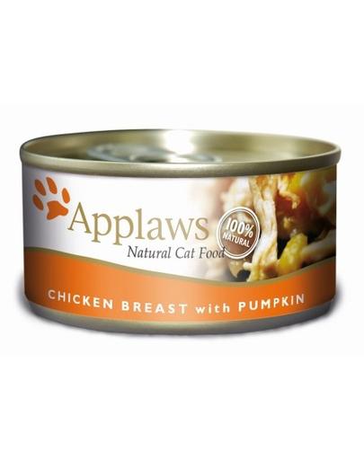 APPLAWS Cat hrană umedă pentru pisici, cu piept de pui și dovleac 156 g imagine
