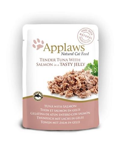APPLAWS Hrană umedă cu ton și somon mărunțit în jeleu 70 g imagine