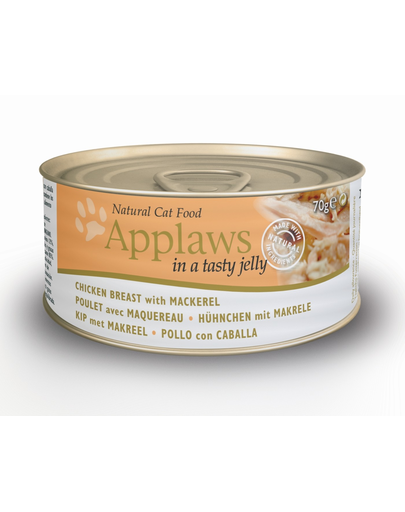 APPLAWS Hrană umedă cu piept de pui și macrou 70 g imagine