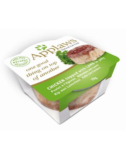 APPLAWS Hrană umedă cu pui și miel 70 g imagine