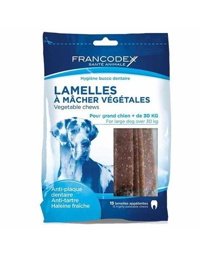 FRANCODEX Benzi vegetale de mestecat 490 g/15 buc.
