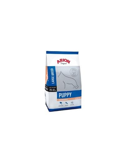 Arion Original Puppy Large - Hrana Uscata Pentru Catelusi Cu Somon Si Orez 3 Kg