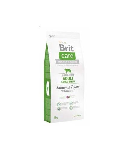 Brit Care Grain-Free Adult Large Breed Salmon & Potato 1 Kg imagine
