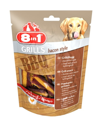 8IN1 Delicatese Grills Bacon Style 80 g imagine