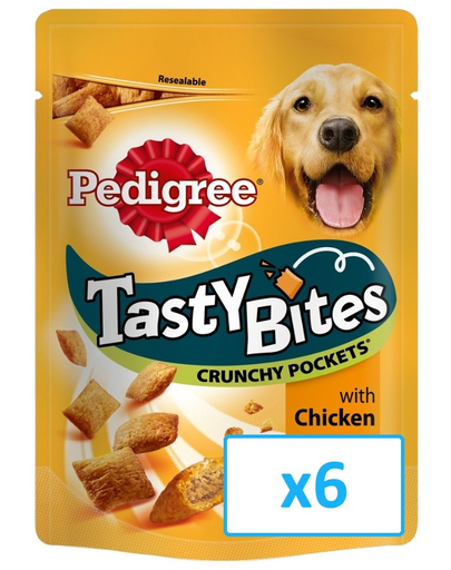 PEDIGREE Tasty Bites Crunchy Pockets 6x 95 g