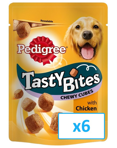 PEDIGREE Tasty Bites Chewy Cubes 6x 130 gr