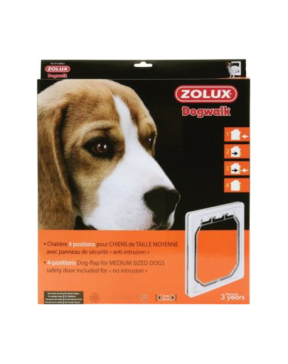 ZOLUX Ușițe 4-poziții pentru câini de talie medie - alb imagine