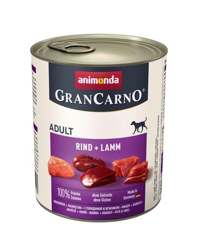 ANIMONDA Grancarno Adult vită și miel 800 gr imagine