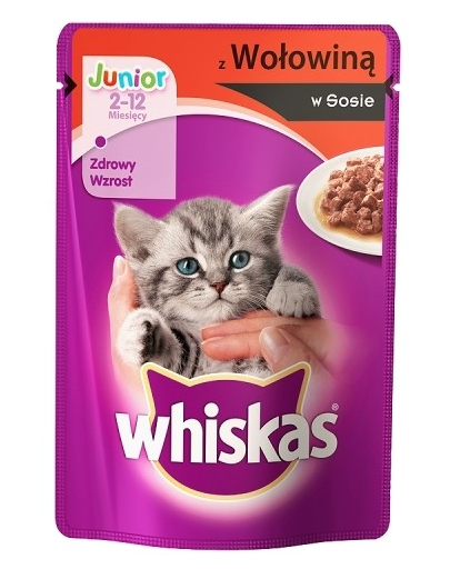 WHISKAS Junior cu Vită În Sos 100g imagine