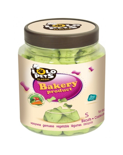 LOLO PETS Cookies pentru câini oase S legume 210 g