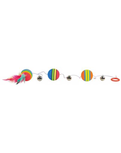 TRIXIE Mingi curcubeu pe elastic cu pene 3