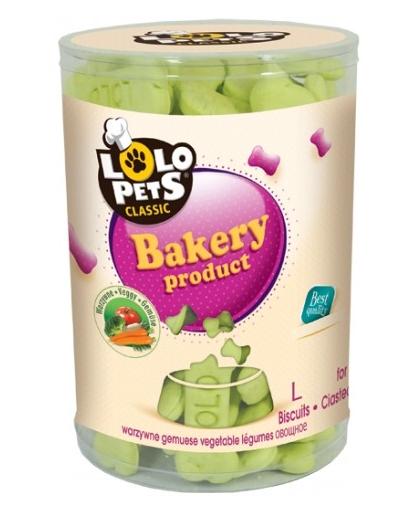 LOLO PETS Cookies pentru câini oase L legume 850 g