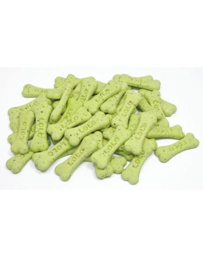 LOLO PETS Biscuiți pentru câini, aromă mentă S 17kg
