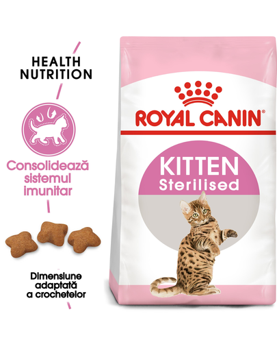 Royal Canin Kitten Sterilised hrana uscata pisica sterilizata junior, 2 kg