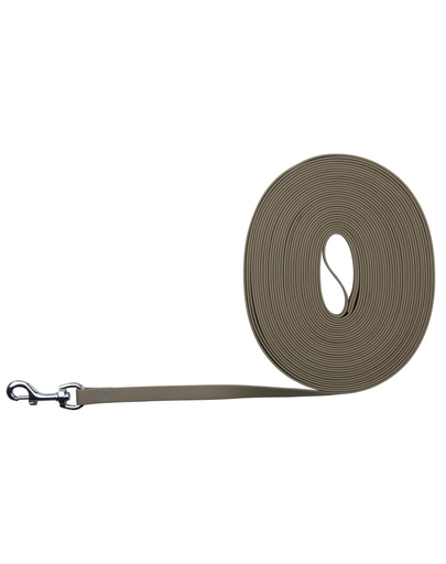 TRIXIE Easy Life Tracking Leash, 10 M/17 mm, Taupe imagine