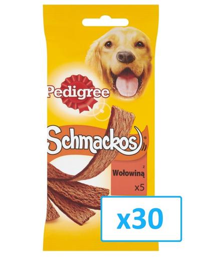 PEDIGREE Recompense pentru câini Schmackos cu vită 43 g x30