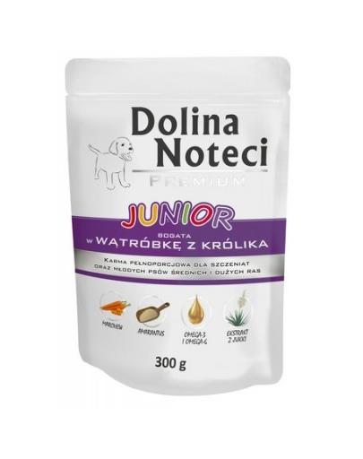 DOLINA NOTECI Premium Junior bogat în ficat cu iepure pentru câini 300 g