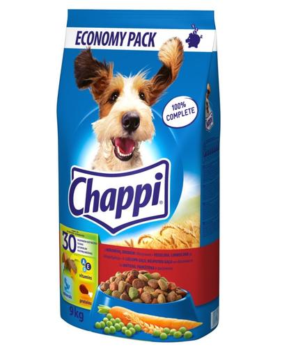 CHAPPI Adult cu Vită, Carne de Pasăre și Legume 9 kg