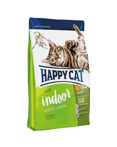 HAPPY CAT Fit & Well Indoor Adult miel 300 g imagine