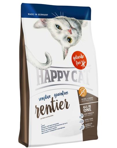 HAPPY CAT Sensitive Grainfree Ren, Vită și Cartofi 1,4 kg imagine
