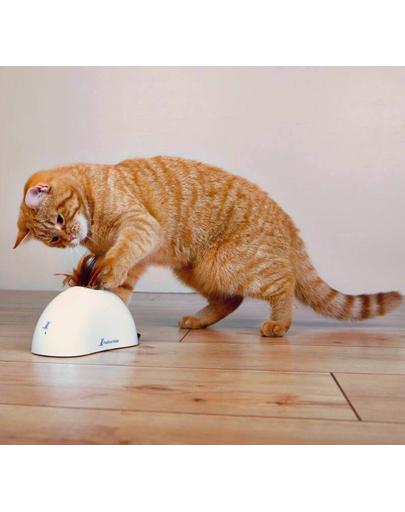 TRIXIE Jucărie pentru pisici cu baterii și senzor de mișcare Feather Hider