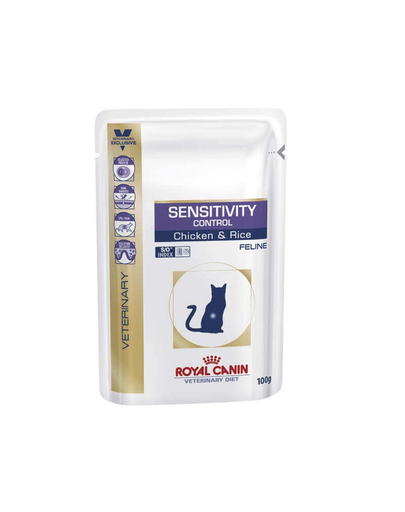 ROYAL CANIN Cat sensitivity control chicken & rice 12 x 100 g