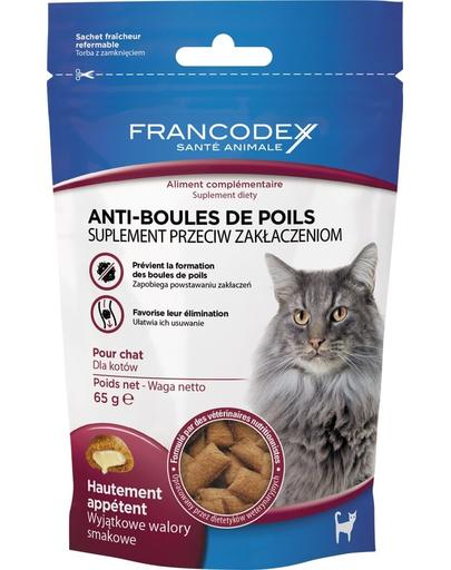 FRANCODEX Recompensă pentru pisici - anti ghemotoace de părl 65 g