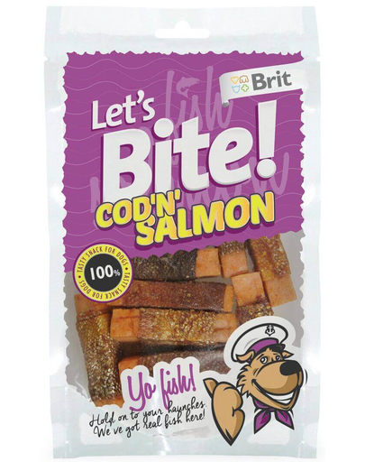 BRIT Lets Bite Cod & Salmon 80 g